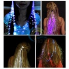Colorful LED Wigs Glowing Flash LED Hair Braid Clip Hairpin Decoration New Year Party Christmas 7 Color Changeable - 2PCS