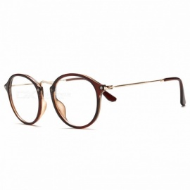 Classic Vintage Transparent Glasses Round Unisex Nerd Eyeglasses Frame Clear Glasses lunette de vue oculos de grau With Box Brown