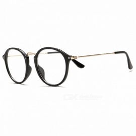 Classic Vintage Transparent Glasses Round Unisex Nerd Eyeglasses Frame Clear Glasses lunette de vue oculos de grau With Box Black