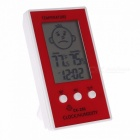 LCD Digital Display Thermometer Hygrometer Clock Temperature Logger Humidity Meter for Indoor and Outdoor Use Green