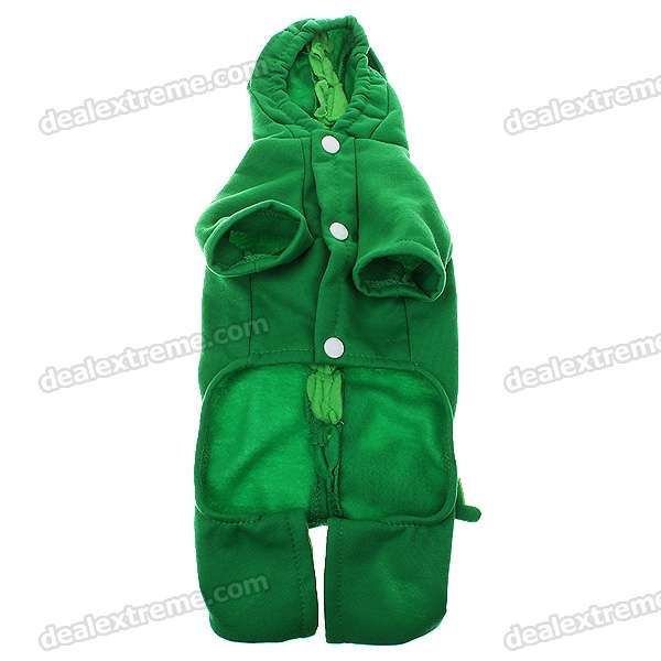 Cute Dog Apparel Dinosaur Style 4-Leg Hole with Hat - M