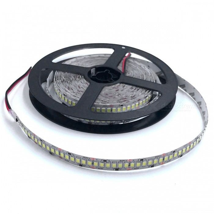 ZHAOYAO Non-Waterproof 5m 100W DC 24V 2835SMD-1200LEDs LED Strip Light - Cold WhiteOther SMD Strips<br>Form  ColorBlack + Grey (DC 24V) Color BINCold WhiteModel2835SMD-1200L-DC 24V-WMaterialCircuit boardQuantity1 setPowerOthers,100WRated VoltageDC 24 VEmitter TypeOthers,2835SMDTotal Emitters1200Color Temperature5500-7000KWavelength0Actual Lumens15-10000 lumensPower AdapterOthers,WiringPacking List1 x LED strip<br>