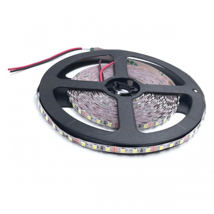 ZHAOYAO Non-Waterproof 5m 70W DC 12V 2835SMD-600LEDs LED Strip Light - Cold White (5mm)Other SMD Strips<br>Form  ColorBlack + Grey (5mm)Color BINCold WhiteModel2835-600L-WMaterialCircuit boardQuantity1 DX.PCM.Model.AttributeModel.UnitPowerOthers,70WRated VoltageDC 12 DX.PCM.Model.AttributeModel.UnitEmitter TypeOthers,2835SMDTotal Emitters600Color Temperature5500-7000KWavelength0Actual Lumens10-7000 DX.PCM.Model.AttributeModel.UnitPower AdapterOthers,WiringPacking List1 x LED Strip<br>