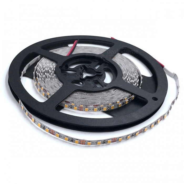 ZHAOYAO Non-Waterproof 5m 70W DC 12V 2835SMD-600LEDs LED Strip Light - Warm White (5mm)Other SMD Strips<br>Form  ColorBlack + Grey (5mm)Color BINWarm WhiteModel2835-600L-WWMaterialCircuit boardQuantity1 setPowerOthers,70WRated VoltageDC 12 VEmitter TypeOthers,2835SMDTotal Emitters600Color Temperature2800-3500KWavelength0Actual Lumens10-7000 lumensPower AdapterOthers,WiringPacking List1 x LED Strip<br>