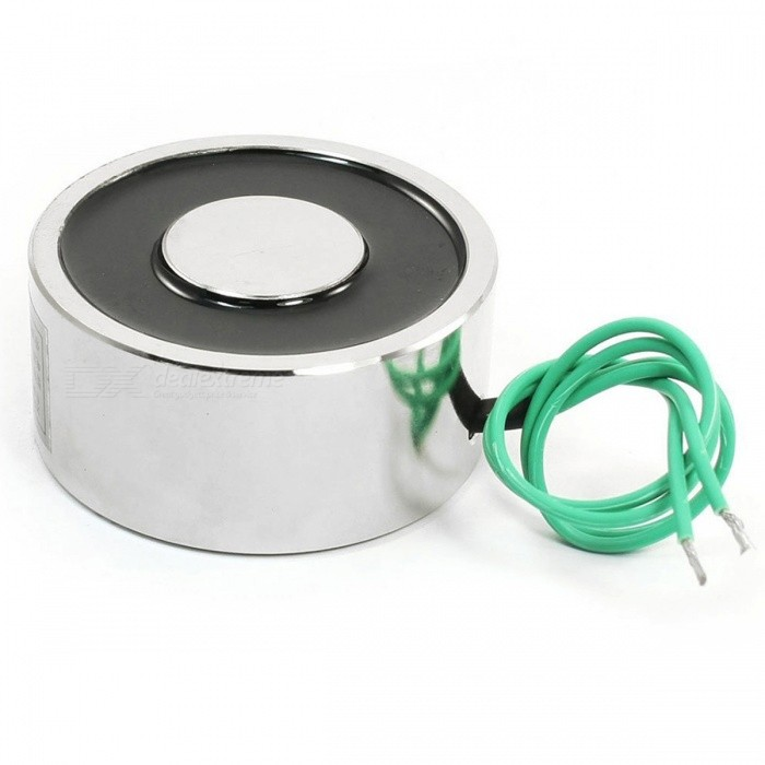 YENISEI XP50X27 12VDC 50Kg 110LB 50x27mm Sucked Electric Lifting Magnet ElectromagnetDIY Parts &amp; Components<br>Form  ColorSilver + Black + Multi-ColoredModelXP50X27Quantity1 pieceMaterialStainless steel + magnet + plasticEnglish Manual / SpecNoOther FeaturesDC 12V; Attraction: 50kg/110LB/500NCertificationROHSPacking List1 x Sucked Type Solenoid XP50X27<br>