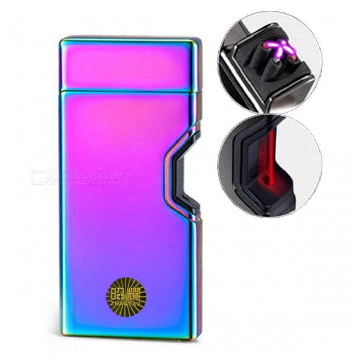 ZHAOYAO Double Arc Creative Infrared Induction USB Charging Lighter - ColorfulOther Lighters<br>Form  ColorColorfulMaterialZinc alloyQuantity1 pieceShade Of ColorMulti-colorTypeUSBWindproofYesPower SupplyLithium batteryCharging Time1-2 hoursPacking List1 x Lighter1 x Data line<br>
