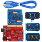 OPEN-SMART 4WD Serial Bluetooth Control Gear Motor Smart Car Kit with Tutorial for Arduino UNO R3 Nano Mega2560
