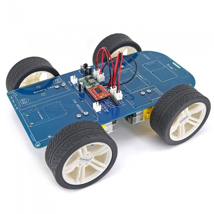 OPEN-SMART 4WD Smart Bluetooth Gear Motor Smart Car Kit with Tutorial for Arduino UNO R3 Nano STM32Kits<br>Form  ColorBlue + BlackModelN/AQuantity1 setMaterialPCB + Alloy + PlasticDownload Link   http://drive.google.com/drive/folders/0B6uNNXJ2z4CxcnZMSm5HSDNXRUU?usp=sharingPacking List1 x PCB Car Chassis4 x Gear Motor with Connection Wires(15cm)4 x Motor Fixing4 x Wheels1 x Cross screwdriver 3*75mm1 x Packing List<br>