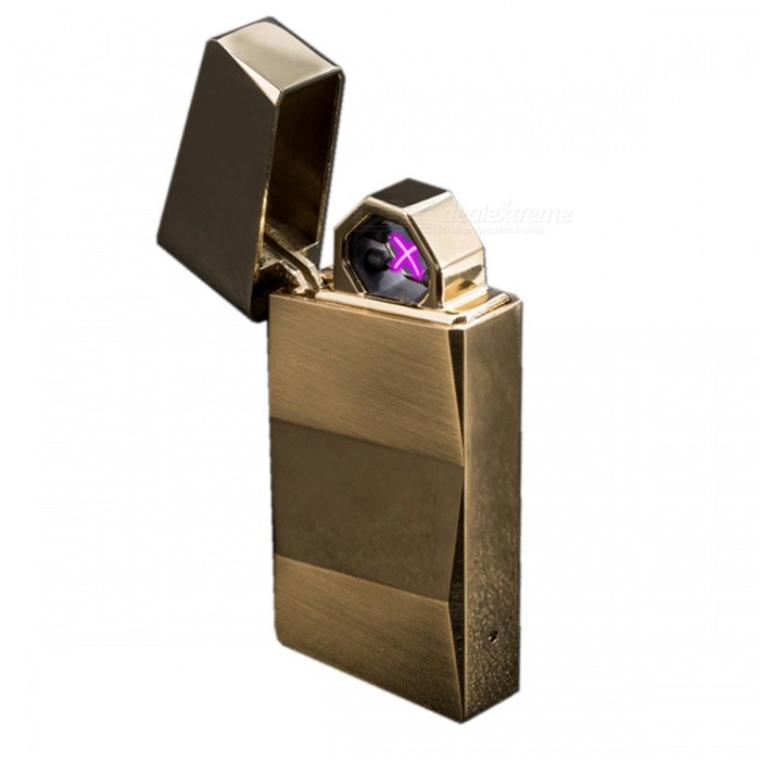 ZHAOYAO Metal Wind-Proof Double Arc Gravity Shake USB Charging Lighter - GoldenOther Lighters<br>Form  ColorGoldenModel202MaterialZinc alloyQuantity1 setShade Of ColorGoldTypeUSBPower SupplyPolymer lithium ion batteryCharging Time2 hoursPacking List1 x Lighter1 x Charging line<br>