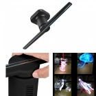 Portable Unique 3D Effect LED Holographic Projector Lamp for Shopping Mall, Subway Station, Exhibition, Etc - Black