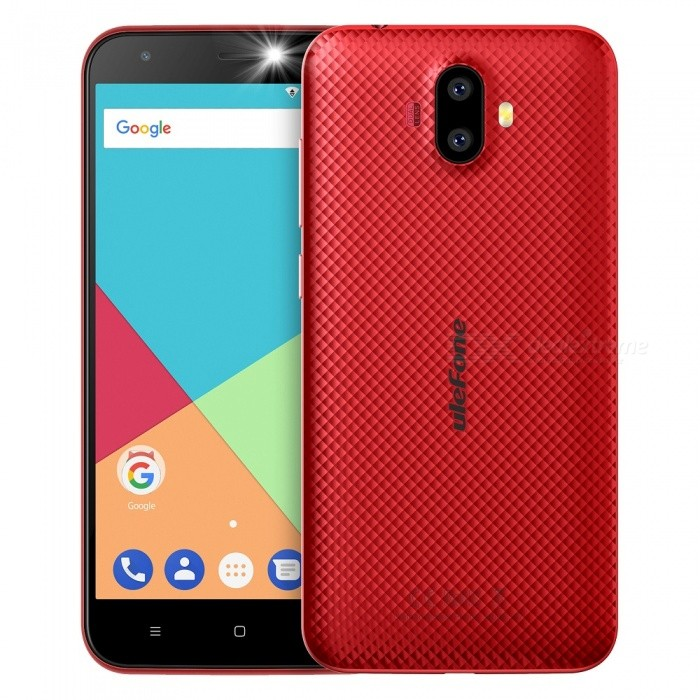 "Ulefone S7 Android 7.0 5.0"" HD Quad-core Dual Sim Dual Standby 3G Phone with 1GB RAM, 8GB ROM - Red"