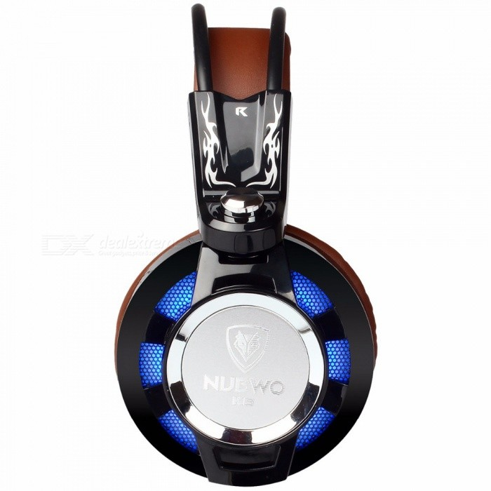 nubwo k6 stereo gaming headset gamer casque headphone w led colorful lights mic for pc ps4. Black Bedroom Furniture Sets. Home Design Ideas