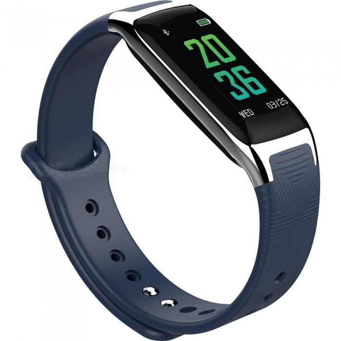 W18 Bluetooth Smart Bracelet with Heart Rate Blood Oxygen Blood Pressure Sleep Monitoring - BlueSmart Bracelets<br>Form  ColorBlueModelW18Quantity1 DX.PCM.Model.AttributeModel.UnitMaterialTPUShade Of ColorBlueWater-proofIP67Bluetooth VersionBluetooth V4.0Touch Screen TypeIPSOperating SystemAndroid 4.4,iOSCompatible OSAndroid IOSBattery Capacity90 DX.PCM.Model.AttributeModel.UnitBattery TypeLi-polymer batteryStandby Time30 DX.PCM.Model.AttributeModel.UnitPacking List1 x Smart Bracelet1 x Charging Cable1 x User Manual<br>