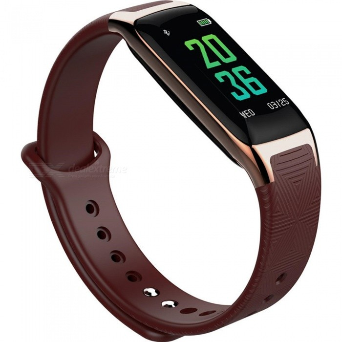 W18 Bluetooth Smart Bracelet with Heart Rate Blood Oxygen Blood Pressure Sleep Monitoring - Dark BrownSmart Bracelets<br>Form  ColorDark BrownModelW18Quantity1 piecesMaterialTPUShade Of ColorBrownWater-proofIP67Bluetooth VersionBluetooth V4.0Touch Screen TypeIPSOperating SystemAndroid 4.4,iOSCompatible OSAndroid IOSBattery Capacity90 mAhBattery TypeLi-polymer batteryStandby Time30 dayPacking List1 x Smart Bracelet1 x Charging Cable1 x User Manual<br>