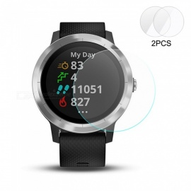 2PCS Hat-Prince Ultra Thin Clear Tempered Glass Screen Protector Film for Garmin Vivoactive 3