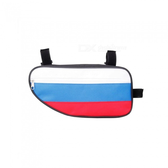 CTSmart Portable Unique Russian Flag Pattern 2L Bike Triangle Package Bag - Blue, White, Red