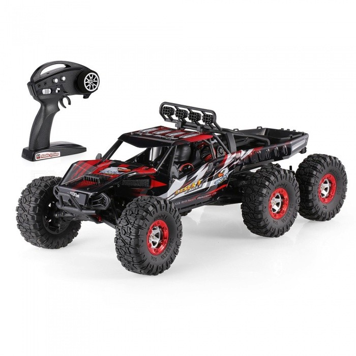 Original JJRC FY-06 Desert-6 1/12 6WD 2.4G 60KM/h High Speed Remote Control RC Brushless Desert Crawler Car - RedR/C Airplanes&amp;Quadcopters<br>Form  ColorBlack RedModelFY-06MaterialABSQuantity1 setShade Of ColorBlackGyroscopeYesChannels Quanlity6 channelFunctionUp,Down,Left,Right,Forward,Backward,StopRemote TypeRadio ControlRemote control frequency2.4GHzRemote Control Rangemore than 100 mSuitable Age 12-15 years,Grown upsCameraNoCamera PixelNoLamp NoBattery TypeLi-ion batteryBattery Capacity7.4V 3000 mAhCharging Timeabout 150 minutesWorking Timeabout 10 minutesRemote Controller Battery TypeAARemote Controller Battery Number4  battery (not included)Remote Control TypeWirelessModelMode 2 (Left Throttle Hand)CertificationCEOther FeaturesThis is FY-06, a new 6x6 6WD super monster that will conquer the desert.It is easy to run, with alloy chassis structure control simulation, it can limberly move forward and back, and turn left and right. It is specially designed for crawling in desert. Whats more, the max speed can reach 60KM/H. Dont hesitate to buy it!Packing List1 x FY-06 Car1 x Remote Controller (Mode 1 &amp; 2)1 x 7.4V 3000mAh Lipo battery1 x Charger Plug1 x Accessories set1 x User Manual set<br>