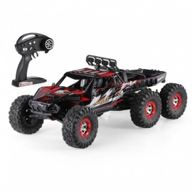 Original JJRC FY-06 Desert-6 1/12 6WD 2.4G 60KM/h High Speed Remote Control RC Brushless Desert Crawler Car - Red