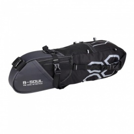 B-SOUL Creative 12L Waterproof  Long-Distance Riding Bike Back Seat Saddle Bag - Black
