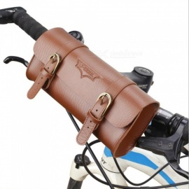 B-SOUL Retro Waterproof 1L Multi-Function Riding Skateboard Folding Handlebar Bag - Brown