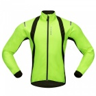 WOSAWE BC232 Windproof Polyester Fleece Classic Long Sleeves Bike Cycling Top Jacket for Autumn / Fall Winter - Green (XXL)