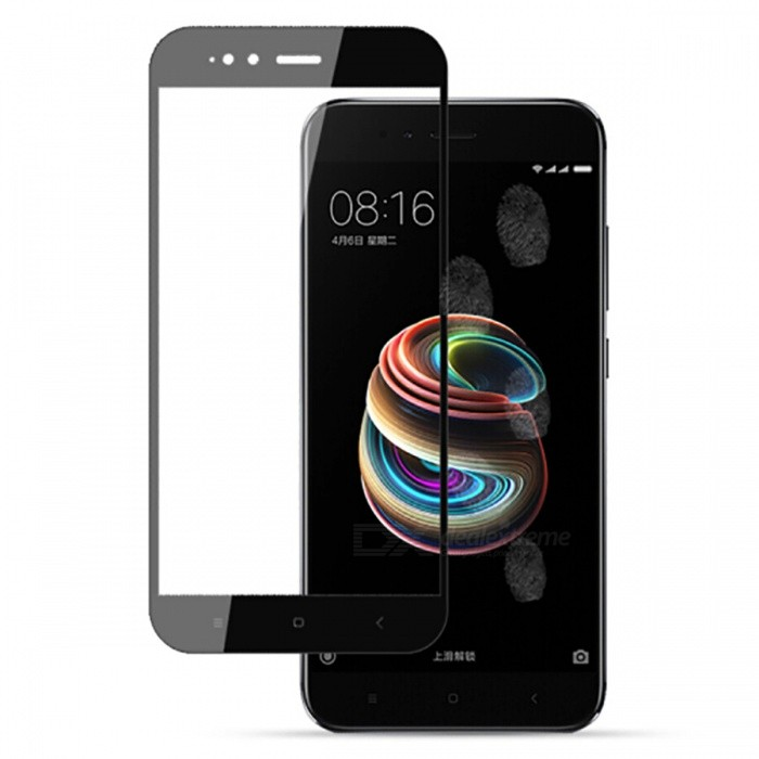 Naxtop Tempered Glass Full Screen Protector for Xiaomi Mi 5X - BlackScreen Protectors<br>Form  ColorBlackScreen TypeGlossyModelN/AMaterialTempered GlassQuantity1 pieceCompatible ModelsXiaomi Mi 5XFeatures2.5D,Fingerprint-proof,Scratch-proof,Tempered glassPacking List1 x Tempered glass film1 x Wet wipe1 x Dry wipe1 x Dust absorber<br>