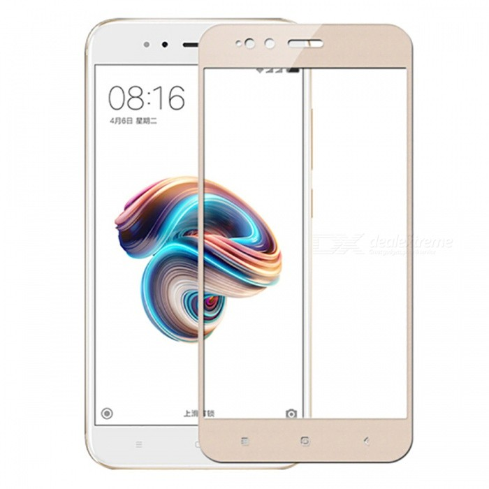 Naxtop Tempered Glass Full Screen Protector for Xiaomi Mi 5X - GoldenScreen Protectors<br>Form  ColorGoldenScreen TypeGlossyModelN/AMaterialTempered GlassQuantity1 pieceCompatible ModelsXiaomi Mi 5XFeatures2.5D,Fingerprint-proof,Scratch-proof,Tempered glassPacking List1 x Tempered glass film1 x Wet wipe1 x Dry wipe1 x Dust absorber<br>