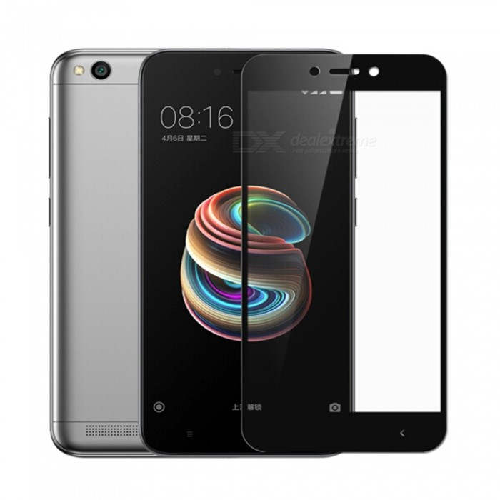 Naxtop Tempered Glass Full Screen Protector for Xiaomi Redmi 5A - BlackScreen Protectors<br>Form  ColorBlackScreen TypeGlossyModelN/AMaterialTempered GlassQuantity1 pieceCompatible ModelsXiaomi Redmi 5AFeatures2.5D,Fingerprint-proof,Scratch-proof,Tempered glassPacking List1 x Tempered glass film1 x Wet wipe1 x Dry wipe1 x Dust absorber<br>