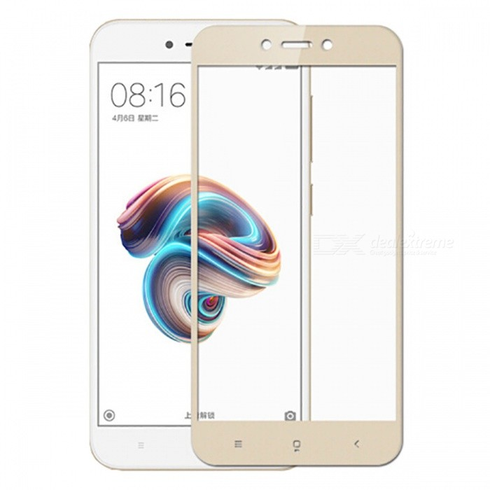 Naxtop Tempered Glass Full Screen Protector for Xiaomi Redmi 5A - GoldenScreen Protectors<br>Form  ColorGoldenScreen TypeGlossyModelN/AMaterialTempered GlassQuantity1 pieceCompatible ModelsXiaomi Redmi 5AFeatures2.5D,Fingerprint-proof,Scratch-proof,Tempered glassPacking List1 x Tempered glass film1 x Wet wipe1 x Dry wipe1 x Dust absorber<br>