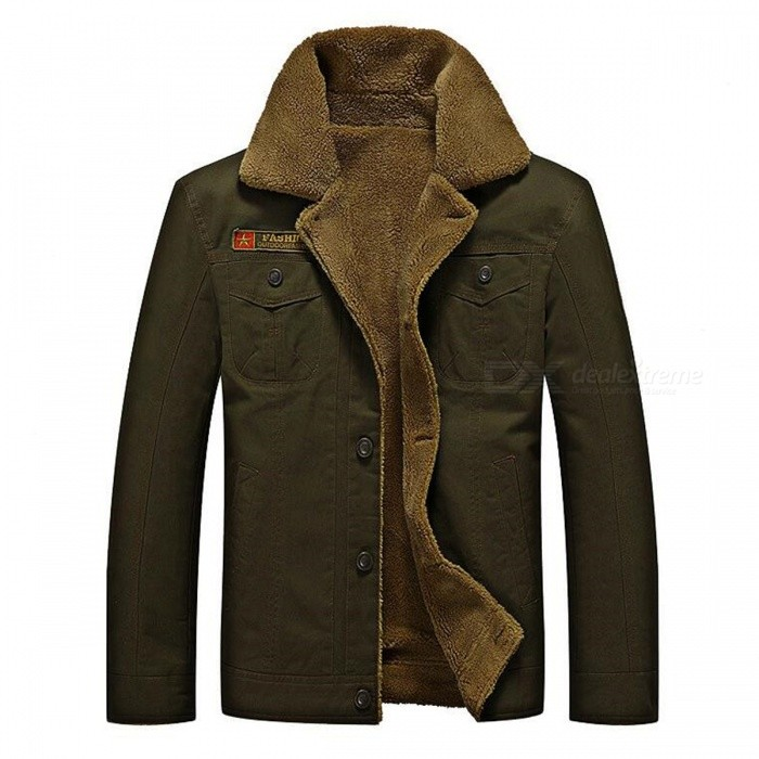 CTSmart YM608 Mens Fashion Long Sleeves Warm Jacket Coat - Army Green (M)Jackets and Coats<br>Form  ColorArmy GreenSizeMModelYM608Quantity1 DX.PCM.Model.AttributeModel.UnitShade Of ColorGreenMaterialCotton blend and polyesterStyleFashionTop FlyZipperShoulder Width45.5 DX.PCM.Model.AttributeModel.UnitChest Girth53 DX.PCM.Model.AttributeModel.UnitWaist Girth53 DX.PCM.Model.AttributeModel.UnitSleeve Length61 DX.PCM.Model.AttributeModel.UnitTotal Length66 DX.PCM.Model.AttributeModel.UnitSuitable for Height165 DX.PCM.Model.AttributeModel.UnitPacking List1 x Coat<br>