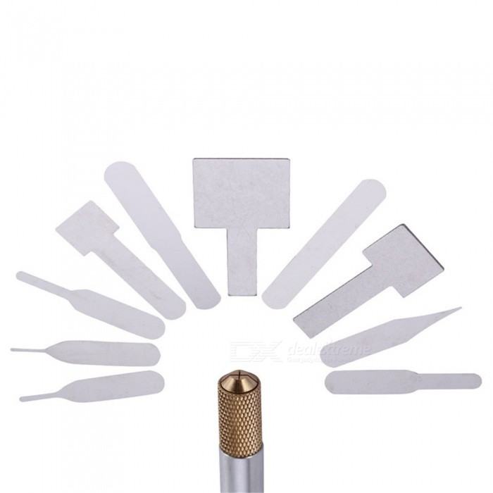 OJADE IC Chip Repair Tool Thin Blades, A8 A9 CPU Remover for IPHONE Processors NAND Flash Mainboard MaintenanceOther Tools<br>Form  ColorSilverQuantity1 DX.PCM.Model.AttributeModel.UnitMaterialMetalPacking List1 x Tool<br>