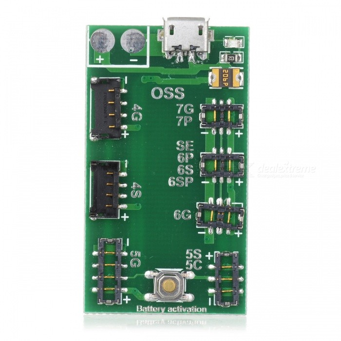 OJADE Battery Charging Board Module with Micro USB Cable for IPHONE 6s 6 Plus 5s 5 4sOther Tools<br>Form  ColorGreenQuantity1 setMaterialABSPacking List1 x Module<br>