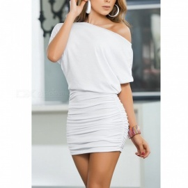 Sexy Fashion Stylish Off Shoulder Package Hip Dress - White