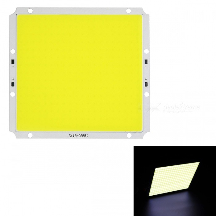JRLED Super Bright 100 x 95mm 60W 300-COB Cold White LED Module (DC 12V )Leds<br>Form  ColorWhite + Yellow + Multi-ColoredColor BINCold WhiteModelN/AMaterialAluminum alloy + silica gelQuantity1 piecePower60 WRate VoltageDC12VWorking Current0-5000 mADimmableYesEmitter TypeCOBTotal Emitters300Beam Angle140 °Color Temperature6500KTheoretical Lumens6000 lumensActual Lumens5000 lumensWavelengthN/AConnector TypeOthers,ConnectionCertificationCE ROHSForm  ColorWhite + Yellow + Multi-ColoredColor BINCold WhitePacking List1 x DC12V 60W COB LED Module<br>