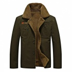 CTSmart YM608 Men's Fashion Long Sleeves Warm Jacket Coat for Autumn Winter - Army Green (XL)