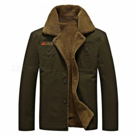 CTSmart YM608 Men's Fashion Long Sleeves Warm Jacket Coat for Autumn Winter - Army Green (2XL)