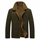 CTSmart YM608 Men's Fashion Long Sleeves Warm Jacket Coat for Autumn Winter - Army Green (4XL)