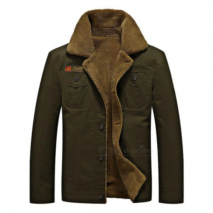 CTSmart YM608 Mens Fashion Long Sleeves Warm Jacket Coat for Autumn Winter - Army Green (5XL)Jackets and Coats<br>Form  ColorArmy GreenSize5XLModelYM608Quantity1 DX.PCM.Model.AttributeModel.UnitShade Of ColorGreenMaterialCotton blend and polyesterStyleFashionTop FlyZipperShoulder Width53.7 DX.PCM.Model.AttributeModel.UnitChest Girth65 DX.PCM.Model.AttributeModel.UnitWaist Girth65 DX.PCM.Model.AttributeModel.UnitSleeve Length68 DX.PCM.Model.AttributeModel.UnitTotal Length78 DX.PCM.Model.AttributeModel.UnitSuitable for Height190 DX.PCM.Model.AttributeModel.UnitPacking List1 x Coat<br>