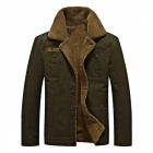 CTSmart YM608 Men's Fashion Long Sleeves Warm Jacket Coat for Autumn Winter - Army Green (5XL)