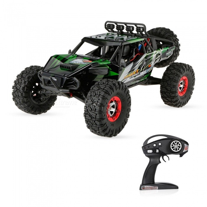 Original JJRC FY-07 Desert-7 1/12 4WD 2.4G 70KM/h High Speed Remote Control Brushless Desert Crawler Car - GreenR/C Airplanes&amp;Quadcopters<br>Form  ColorGrass GreenModelFY-07MaterialABSQuantity1 setShade Of ColorGreenGyroscopeYesChannels Quanlity6 channelFunctionDown,Left,Right,Forward,Backward,StopRemote TypeRadio ControlRemote control frequency2.4GHzRemote Control Rangemore than 100 mSuitable Age 12-15 years,Grown upsCameraNoCamera PixelNoLamp NoBattery TypeLi-ion batteryBattery Capacity7.4V 1500 mAhCharging Timeabout 150 minutesWorking Timeabout 10 minutesRemote Controller Battery TypeAARemote Controller Battery Number4 * AA battery (not included)Remote Control TypeWirelessModelMode 2 (Left Throttle Hand)CertificationCEOther FeaturesThis is JJRC FY-07, a new 4WD super monster that will conquer the desert.It is easy to run, with alloy chassis structure control simulation, it can limberly move forward and back, and turn left and right. It is specially designed for crawling in desert. Whats more, the max speed can reach 70KM/H. Dont hesitate to buy it!Packing List1 x JJRC FY-07 Car1 x Remote Controller (Mode 1&amp;2)1 x 7.4V 1500mAh Lipo battery1 x Charger Plug1 x Accessories set1 x User Manual set<br>