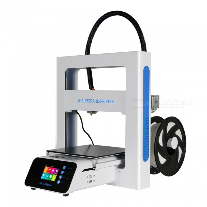 JGAURORA A3S 205*205*205mm High Precision 3D Printer Kit w/ 2.8 Color Touch Screen, BDG Platform3D Printers, 3D Printer Kits<br>Form  ColorWhiteModelA3SQuantity1 setMaterialMetalEnglish Manual / SpecYesCertificationFCC/CE/ROSHPacking List1 x A3S1 x Spool filament PLA 0.25KG1 x Power Supply Cable 1 x Tool box (Hex Wrench Kit and testing filament)1 x USB stick (contains software, test sample files and operation manual)<br>