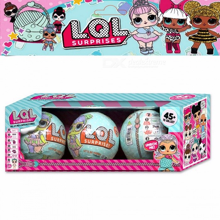 Cute LOL Dolls LQL Pet Surprise Egg Baby Girls Dress Up Magic Ball Action Figure Boneca Lol Toy Christmas Gift for Girls - 3PCS ColorfulOther Toys<br>Form  ColorColorfulMaterialPlasticQuantity1 setSuitable Age 3-4 years,5-7 yearsPacking List3 x Dolls<br>