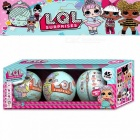 Cute LOL Dolls LQL Pet Surprise Egg Baby Girls Dress Up Magic Ball Action Figure Boneca Lol Toy Christmas Gift for Girls - 3PCS Colorful