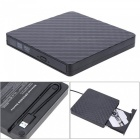 Portable USB 3.0 External CD/DVD-RW DVD Writer Drive for PC Desktop Mac Laptop - Black