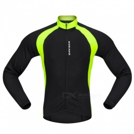 BC228 Sports Long-Sleeve Cycling Jersey - Black (S)