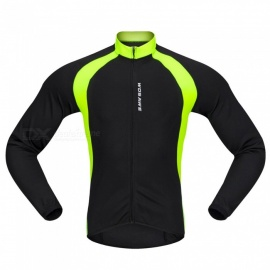 BC228 Sports Long-Sleeve Cycling Jersey - Black (M)