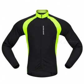 BC228 Sports Long-Sleeve Cycling Jersey - Black (L)