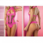 Europe And The United States Sexy Lace Sexy Bare Back Strap Lingerie Sexy Lingerie - Rose Red