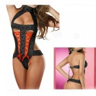 Europe And The United States Sexy Lace Sexy Bare Back Strap Lingerie Sexy Lingerie - Black