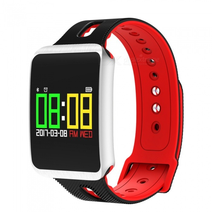 0.96 TFT Color Screen Bracelet with Heart Rate Monitor, Oxygen Blood Pressure, Calorie Consumption - RedSmart Bracelets<br>Form  ColorRed + MulticoloredQuantity1 setMaterialABSShade Of ColorRedWater-proofIP67Bluetooth VersionBluetooth V4.0Touch Screen TypeYesCompatible OSAndroid, IOSBattery Capacity120 mAhBattery TypeLi-polymer batteryStandby Time5-7 daysPacking List1 x Smart Bracelet1 x Charging Cable1 x Manual<br>